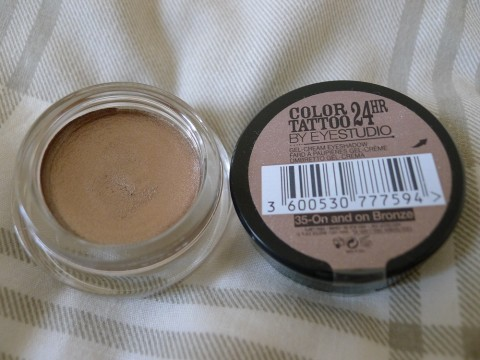 Maybelline Colour Tattoo 24 Hour Eyeshadow Review 1