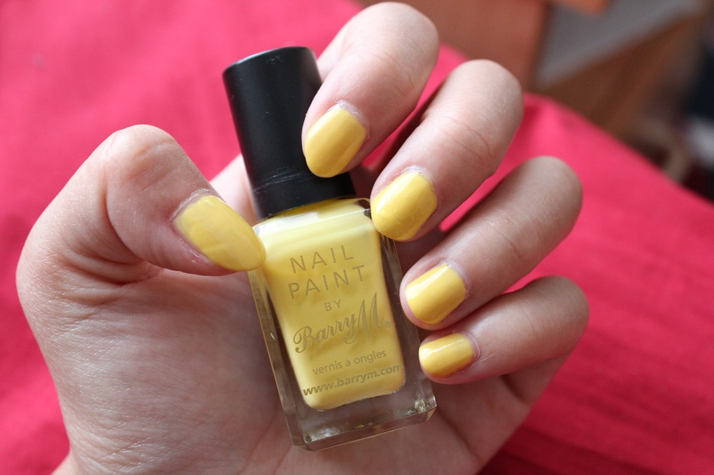 Barry M Lemon Ice Cream Nail Polish Review 1