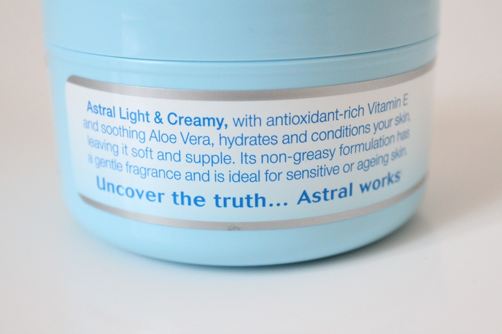 Astral Light and Creamy Moisturiser Review 2