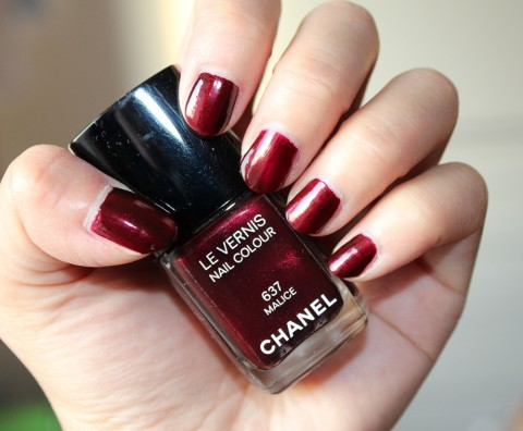 Chanel Malice Nail Polish Review 5