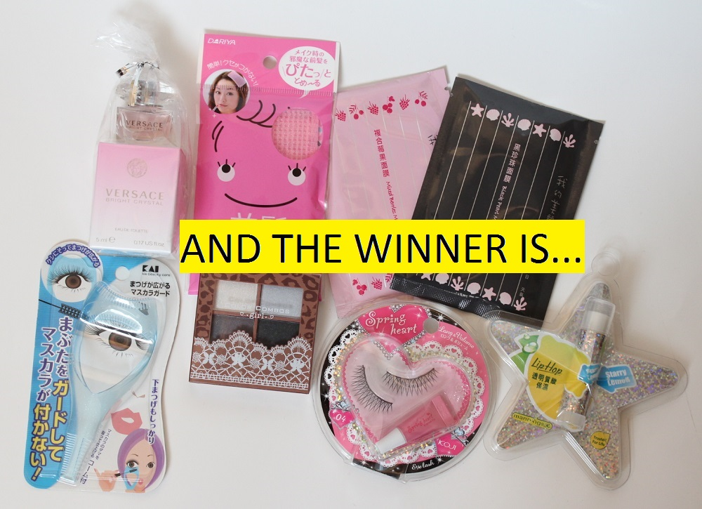 Hong Kong Haul Giveaway Winner