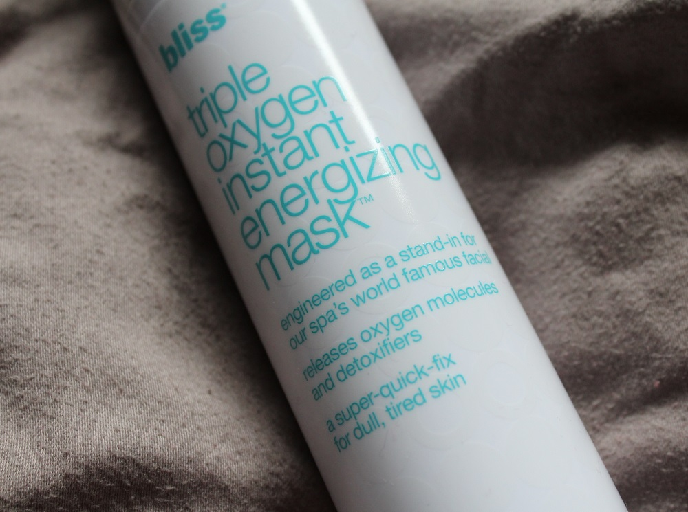 Bliss Triple Oxygen Instant Energizing Mask Review 2