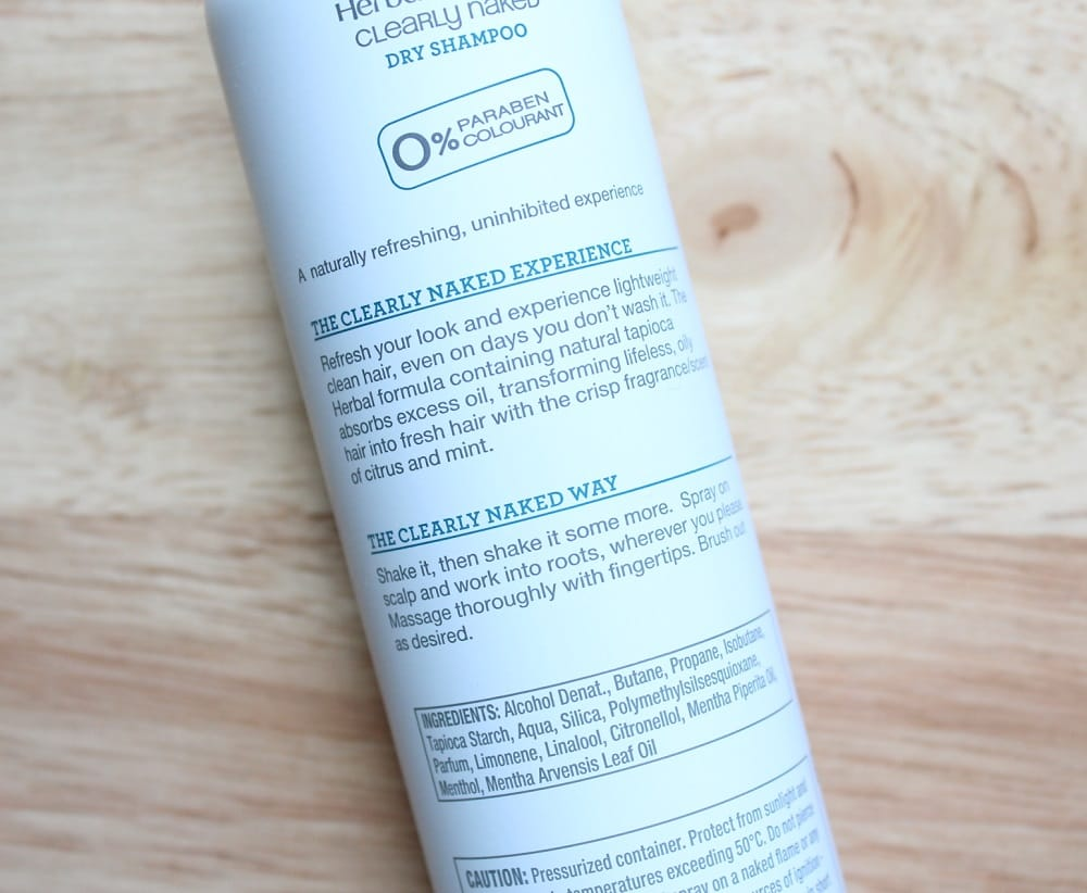 Herbal Essences Clearly Naked Dry Shampoo Review 3