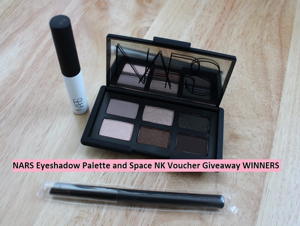 NARS Eyeshadow Palette and £25 Space NK Voucher Giveaway WINNERS