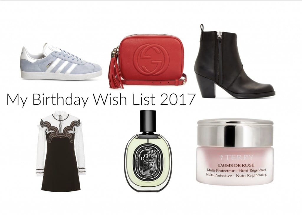 Birthday Wish List 2017
