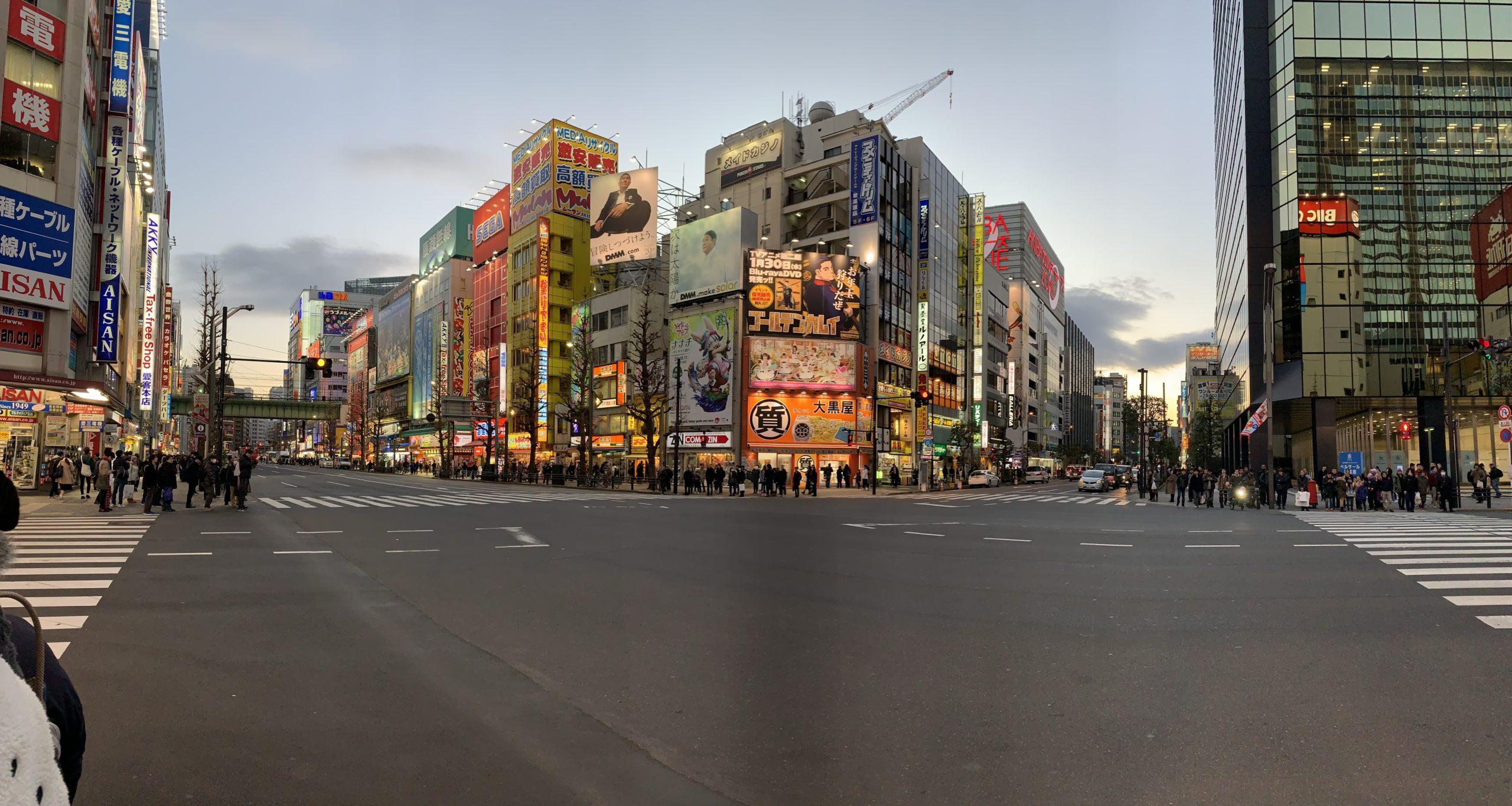 Akihabara Japan crossing